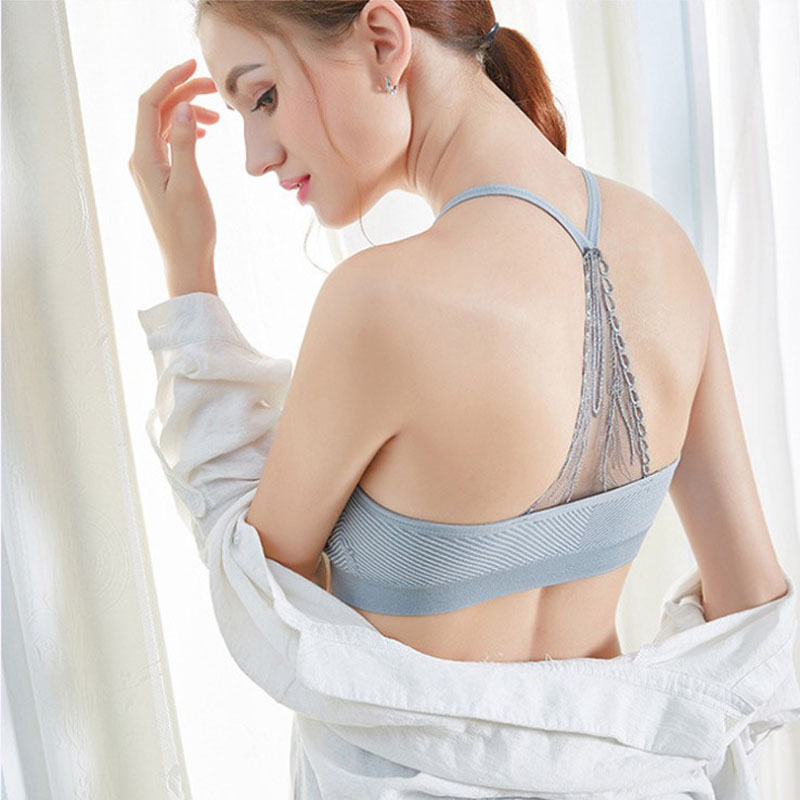 Sport Bra With Lace Multi-color Women Breathable Comfortable Fitness Girl Bust Bra Screw Thread Tops Beautiful Back Underwear Various Styles Home