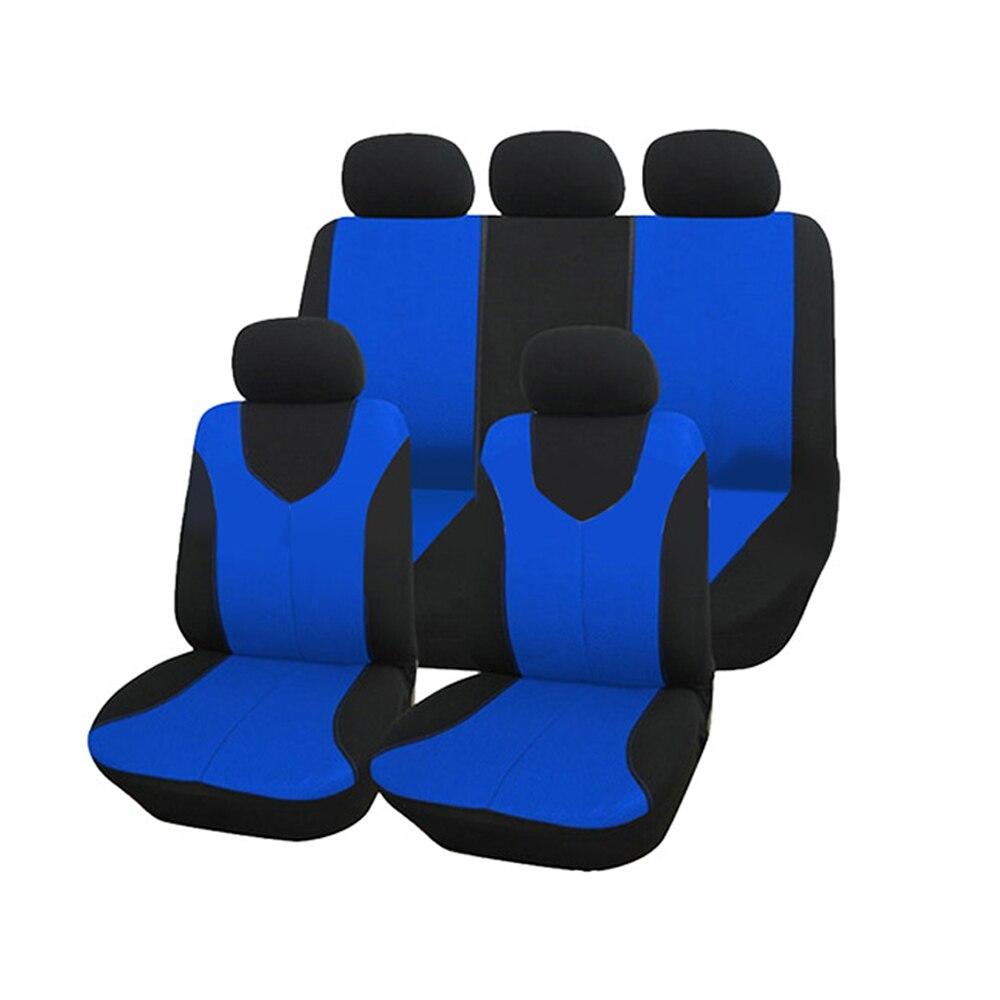 À vendre Auto soin Air maille Polyester tissu automobile housse de siège 9 pièces deux choix de couleur adapté à la plupart des camions de voiture SUV Van