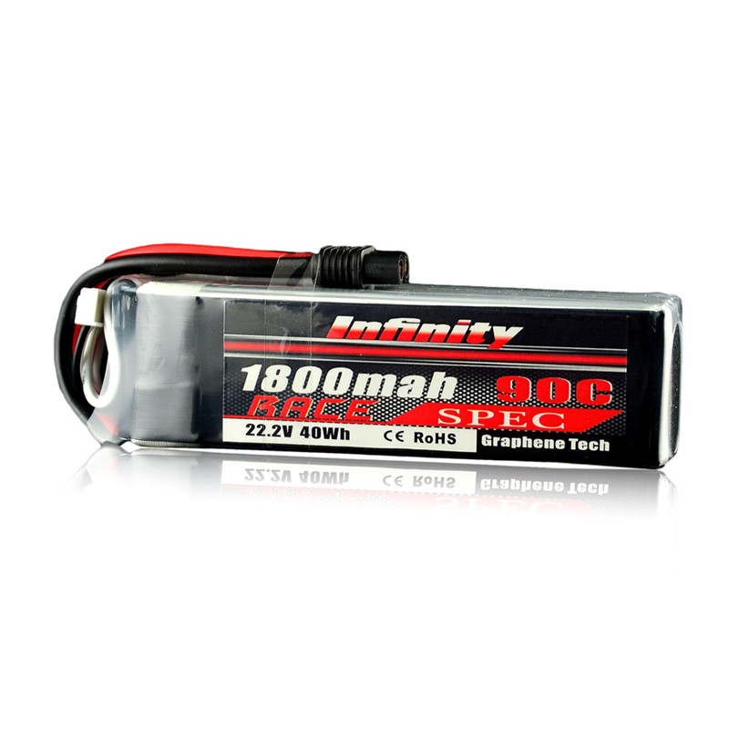 In Stock For Infinity 22.2V 1800mAh 90C 40Wh 6S 1P Race Spec Rechargeabel Lipo Battery for RC Model Multicopter Power Part Accs 1s 2s 3s 4s 5s 6s 7s 8s lipo battery balance connector for rc model battery esc