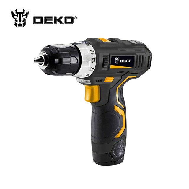 Deko GCD12DU3 12 вольт Макс DC литий-ионный Батарея 3/8-дюймовый 2-Скорость электрическая дрель мини Отвёртки Беспроводной Мощность драйвер