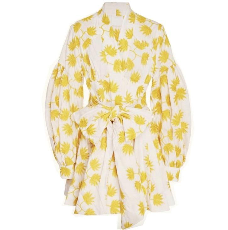2019 New arrive yellow women Dresses