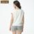 Mulheres Pijamas Set de Verão de Algodão Floral impresso Mangas Curtas Sleepwear Nightwear Pijamas Salão Casa T-shirt & Shorts para As Mulheres