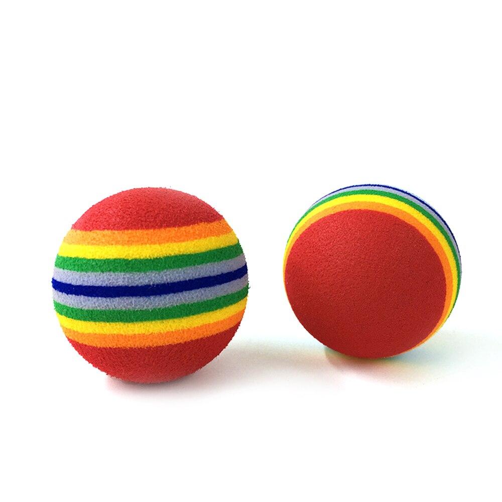 1 шт Радужная игрушка шарик интерактивный 3,5 м Cat игрушки играть, погремушка Scratch Ева мяч принадлежности для тренировки животных 3 размера