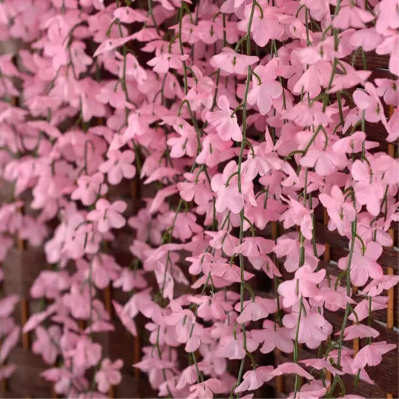 White red pink purple yellow artificial cherry blossom silk flower white red pink purple yellow artificial cherry blossom silk flower vine wall hanging wisteria for home and wedding decorations in artificial dried mightylinksfo