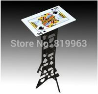 Aluminum Folding Table Silver Poker Pattern Magic Tricks Magia Accessories Close Up Mentalism Magic Props Stage