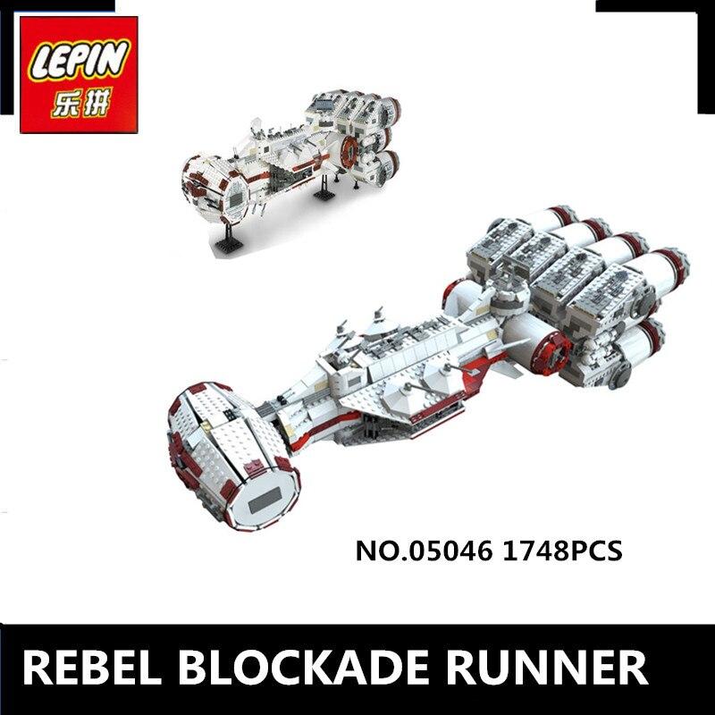 IN STOCK Lepin 05046 1748Pcs New Star Series The Tantive IV Rebel W Blockade Runner Set Building Blcoks Bricks Toys 10019