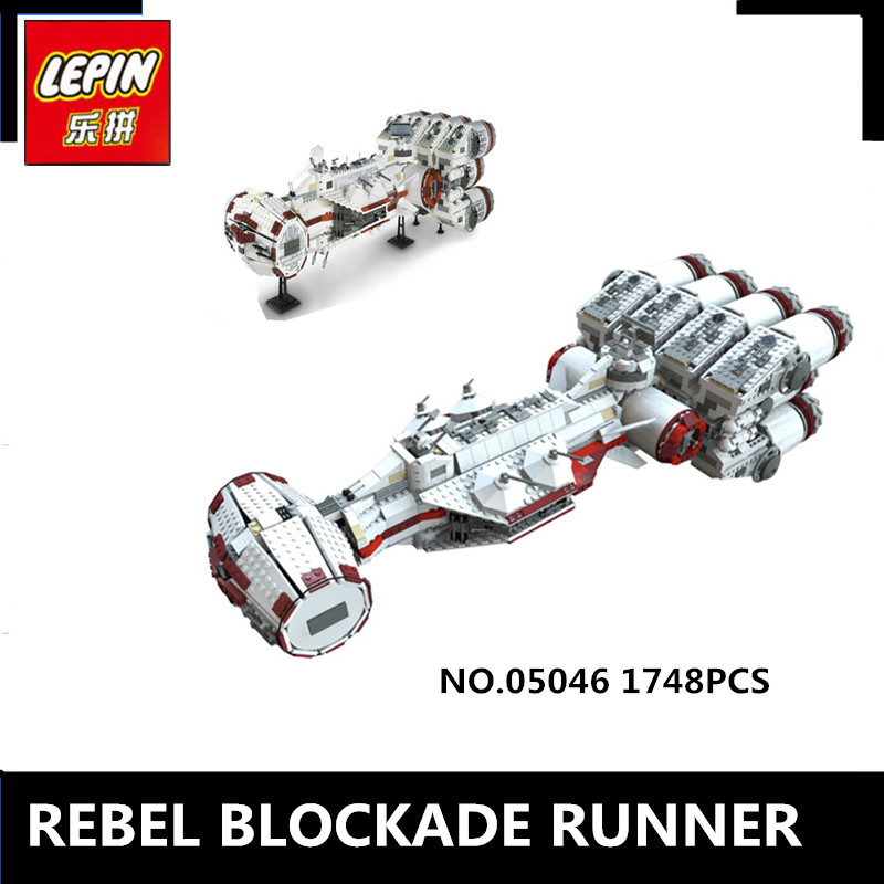 IN STOCK Lepin 05046 1748Pcs New Star Series The Tantive IV Rebel Wars Blockade Runner Set Building Blcoks Bricks Toys 10019 lepin 05046 1748pcs star war series the tantive iv rebel blockade runner set building blcoks bricks toys for children gift 10019