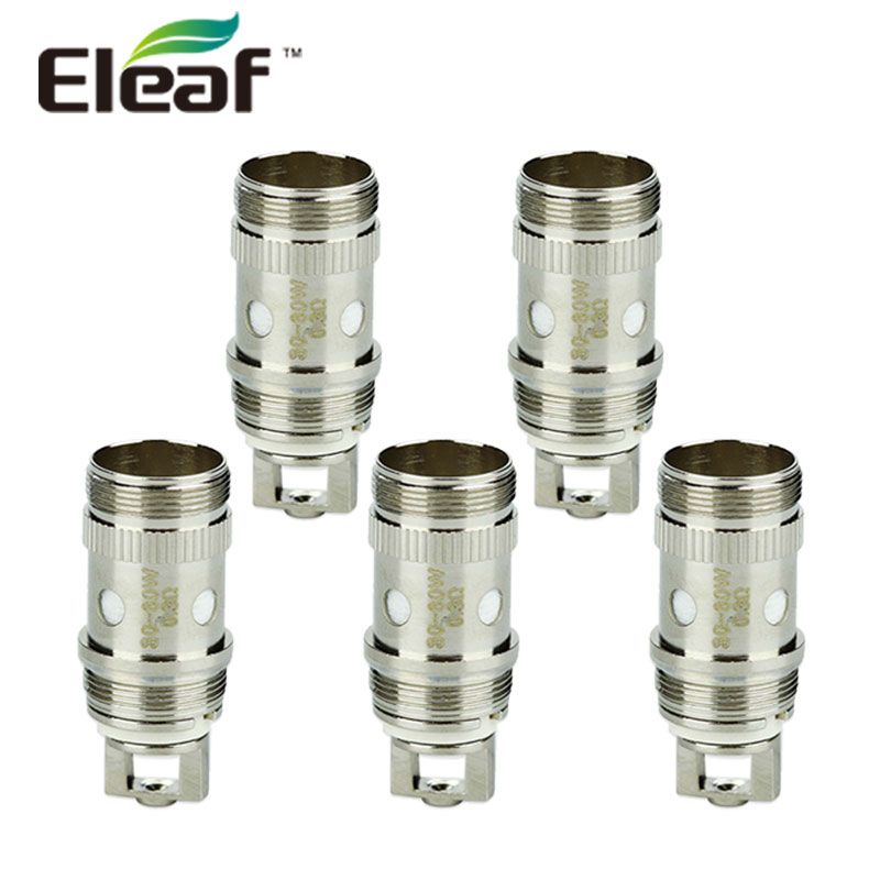 цена на Original 5pcs Eleaf iJust 2 EC Coil 0.3ohm/0.5ohm just2 Atomizer Head Vape for iJust 2/Melo/Melo 2/Melo 3/Melo 3 Mini/Lemo 3