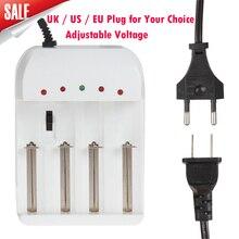 Ajustable universal 4 cargador de batería con ee. uu./reino unido/ue ac plug para aa/aaa/16340/18650/25500/26650/2670 batería recargable