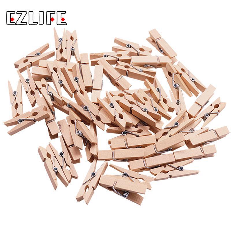 200 Pcs Arts and Crafts Natural 2.5cm Mini Wooden Pegs