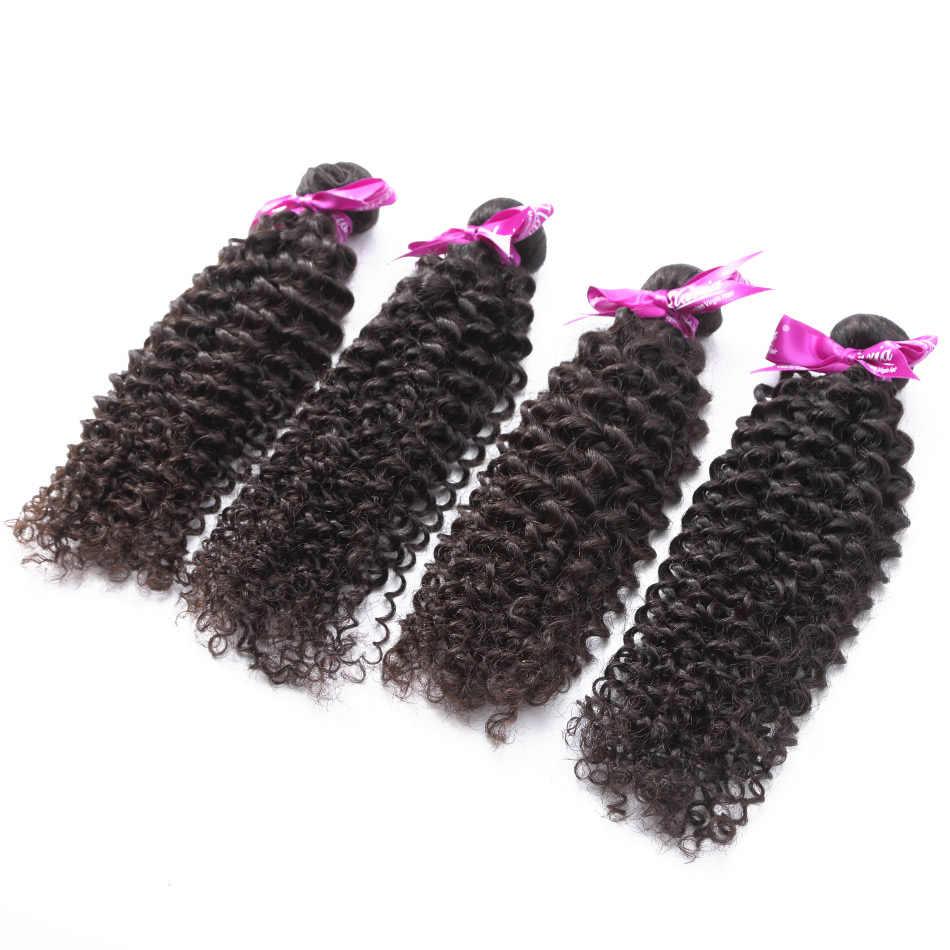 ILARIA волосы афро кудрявый вьющиеся перуанских Девы пучки волос 2 шт./лот 100% человеческих волос соткет натуральный цвет волос Ткачество Топ качество