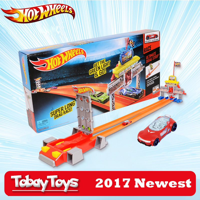 2017 New Hotwheels Car Track Set Straight Track Acceleration Track Car Toy Educational Building Hot Wheels Track Model CBY76 hot wheels 4 in 1 super track suit car toy new design multifunctional gift box hotwheels track car model dlf28 for christmax