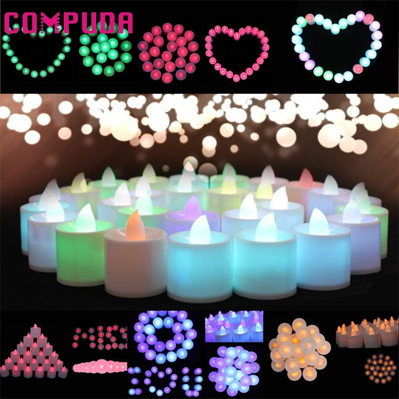 Safe mini colorful romantic electronic candle led light for 26 january decoration