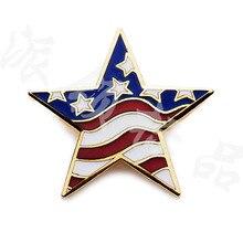 charming UAS flag metal badgees for 2015 satr shaped