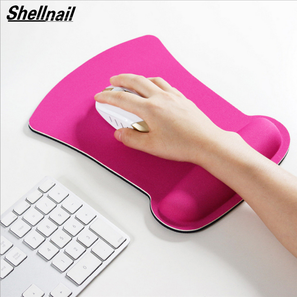 Shellnail Thicken Soft Sponge Wrist Rest Mouse Pad For Optical/Trackball Mat Mice Pad Computer Durable Comfy Mouse Mat