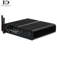 Skylake Intel i7 6500u 6600u безвентиляторный Мини ПК коробка ПК HTPC с DP + HDMI SD Card Reader 4 * USB3.0 wi Fi 300 м Макс 16 г Оперативная память Win 10, linux