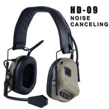ชุดหูฟังยุทธวิธีการบินทหารชุดหูฟังตัดเสียงรบกวนลดมาตรฐานป้องกันหูการล่าสัตว์ยิงหูฟัง