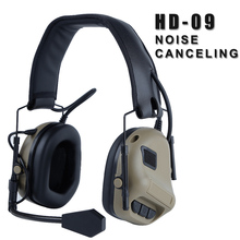 Tactical Headset Military Aviation Headset Noise Canceling Reduction Standard Ear Protection Hunting Combat Shooting Headphone