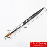 Factory Direct,Size 18,100% Kolinsky Acrylic Nail Brush,Metal Handle Nail Brush,Hot Sale!