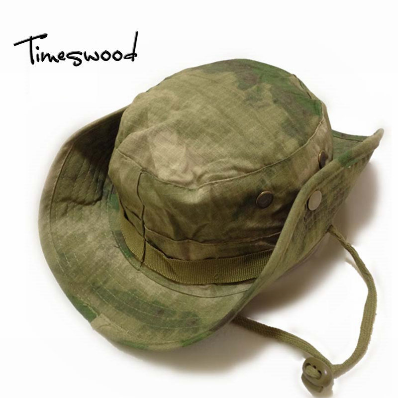 Camouflage Black ACU Jungle Digital Boonie Hats Tactical Airsoft Sniper Nepalese Cap Militares Army Mens Military Sun Hat