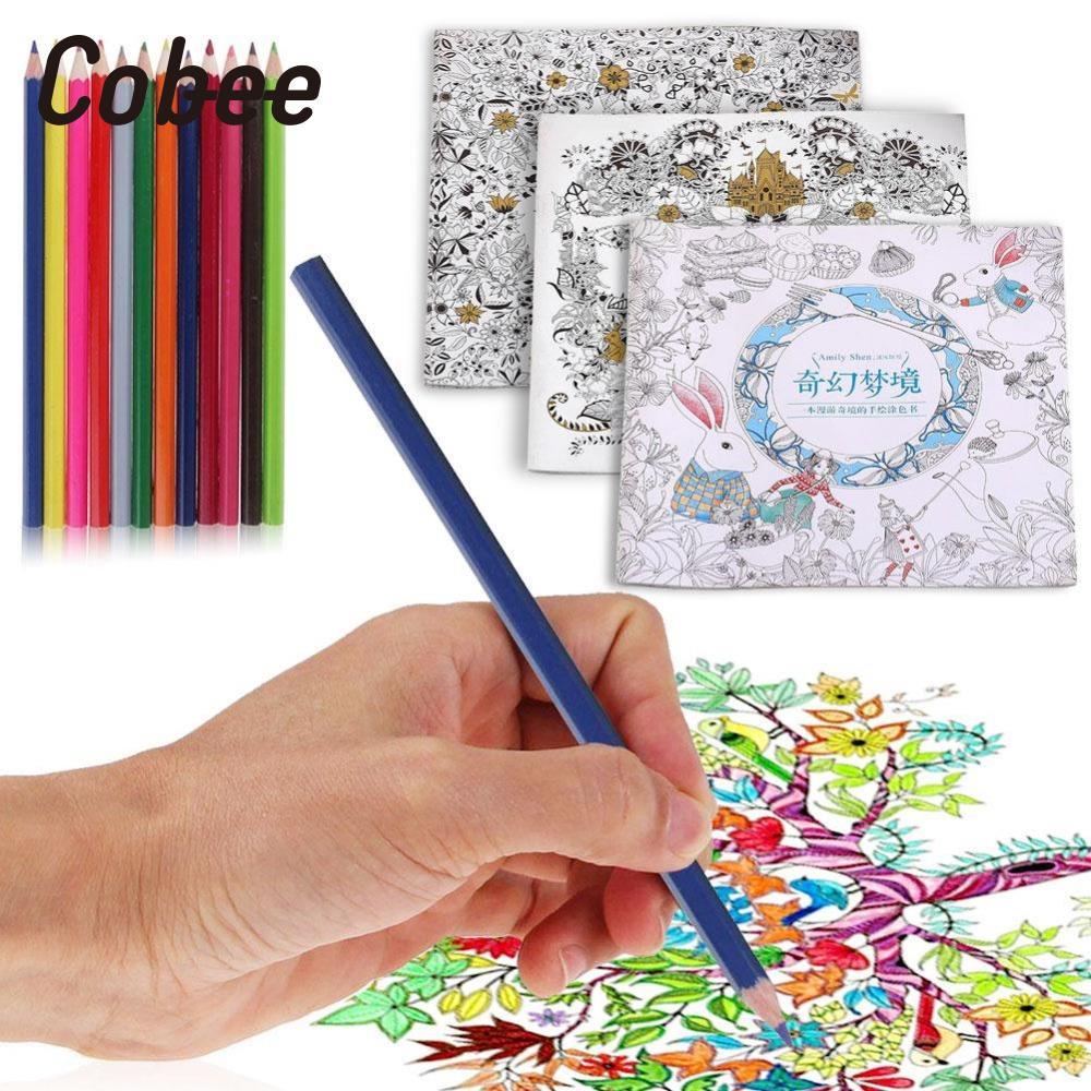 US $1 57 OFF Cobee Warna Warni Buku Mewarnai Untuk Graffiti Sketsa Lukisan Menghilangkan Stres Warna Warni Rumah Sekolah Coloring Book Book