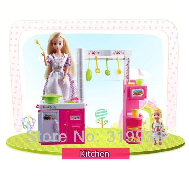 Free shipping Jiaoer Dolls Kitchen Furniture Accessories