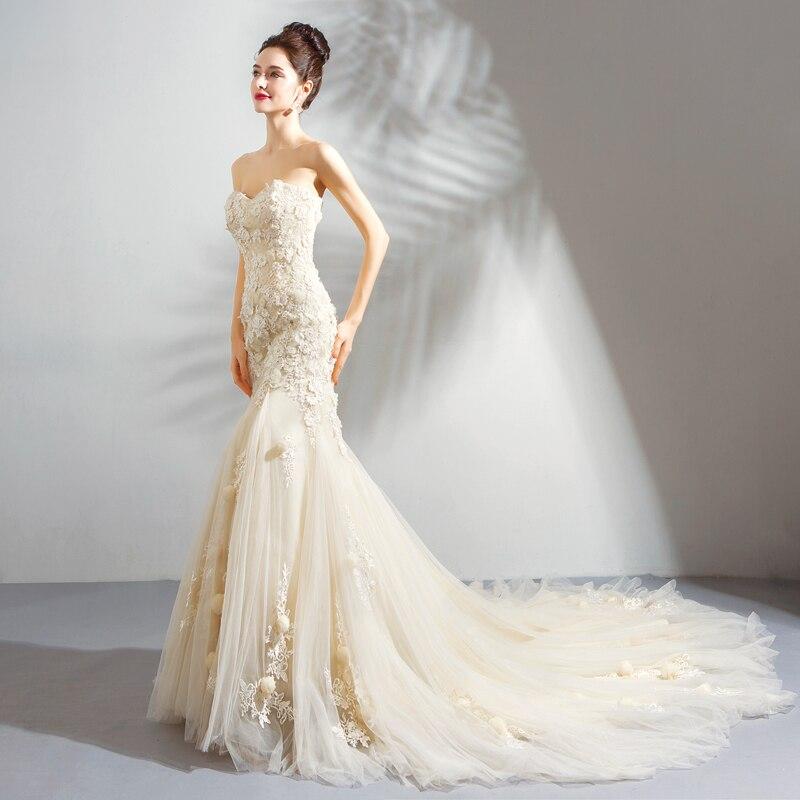 Haut Princesse Élégant Proms Appliques Femmes Robe 2018 Parti Mariages Monarch Bretelles Mariées Gamme De B83 Train Robes Nouveau Champagne Longue 44w7x