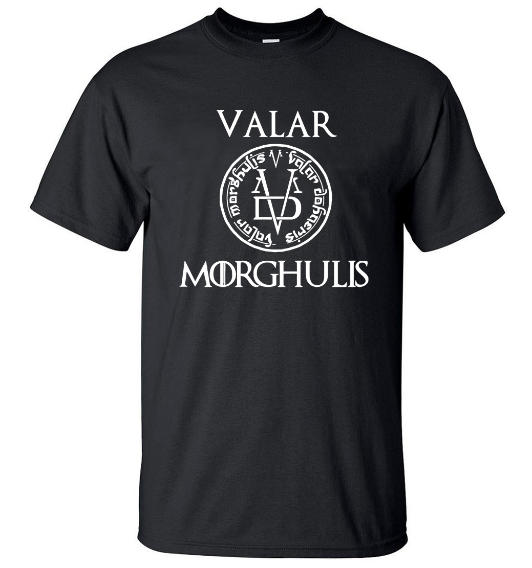2019 Summer Tshirt Men Valar Morgulis All Men Must Die Valyrian Game of Thrones T Shirts Casual 100% Cotton Men's Tops Tees