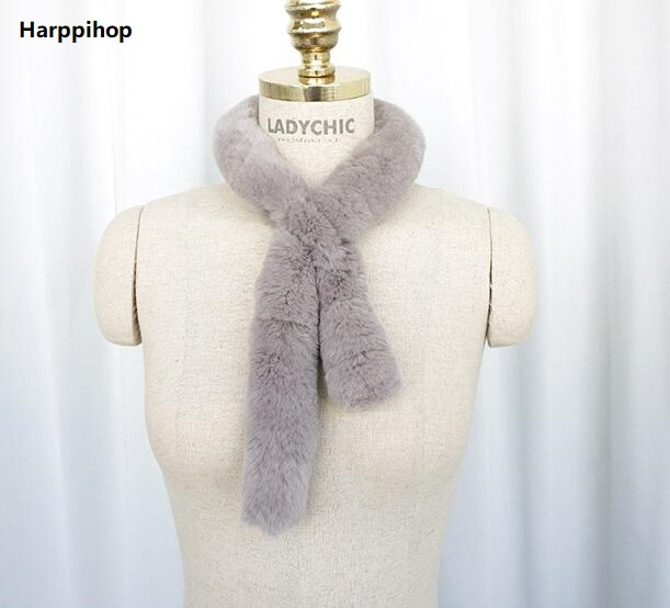 Clever Real Fur Hat And Scarf Set,winter Knitted Hat With Natural Fox Fur Fashion Real Rex Rabbit Fur Scarves.gray Sufficient Supply Women's Scarves