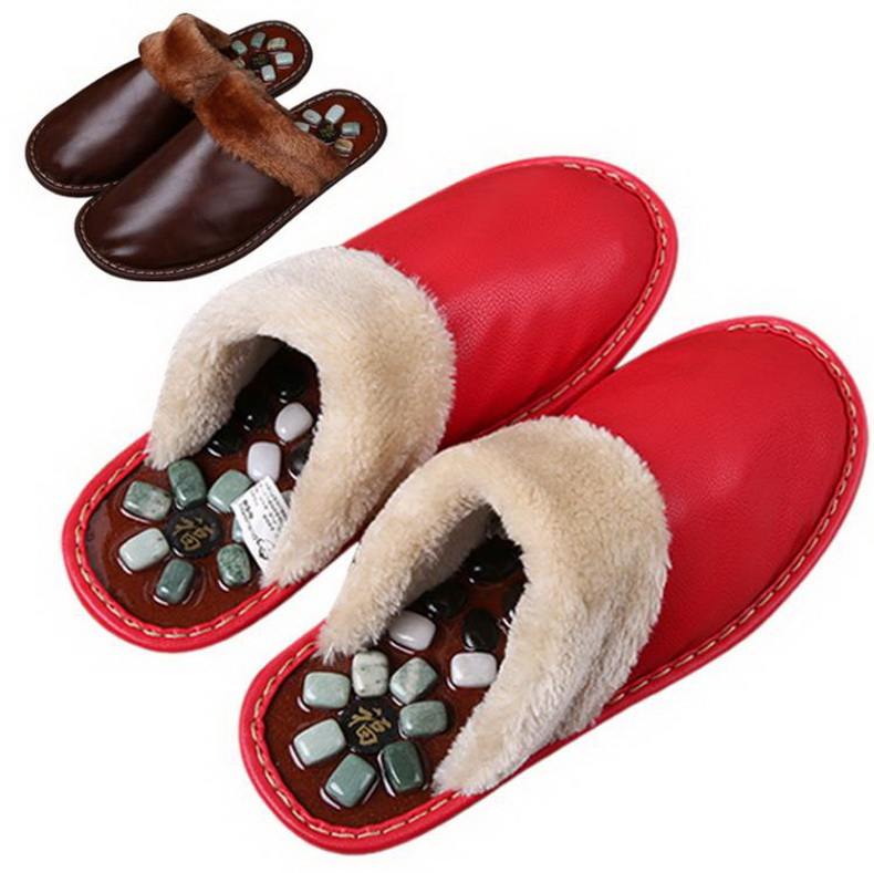 Acupuncture massage slippers/ men soft bottom point massage slippers fashion thick bottom anti-slip indoor slippers/tb171028