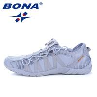 BONA/Новинка; популярные Стильные мужские кроссовки для бега; спортивная обувь на шнуровке; Прогулочные кроссовки для бега; удобные кроссовки...