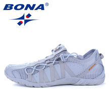 BONA Jogging Sneakers Athletic-Shoes Popular-Style Fast Lace-Up New Men Walkng Comfortable