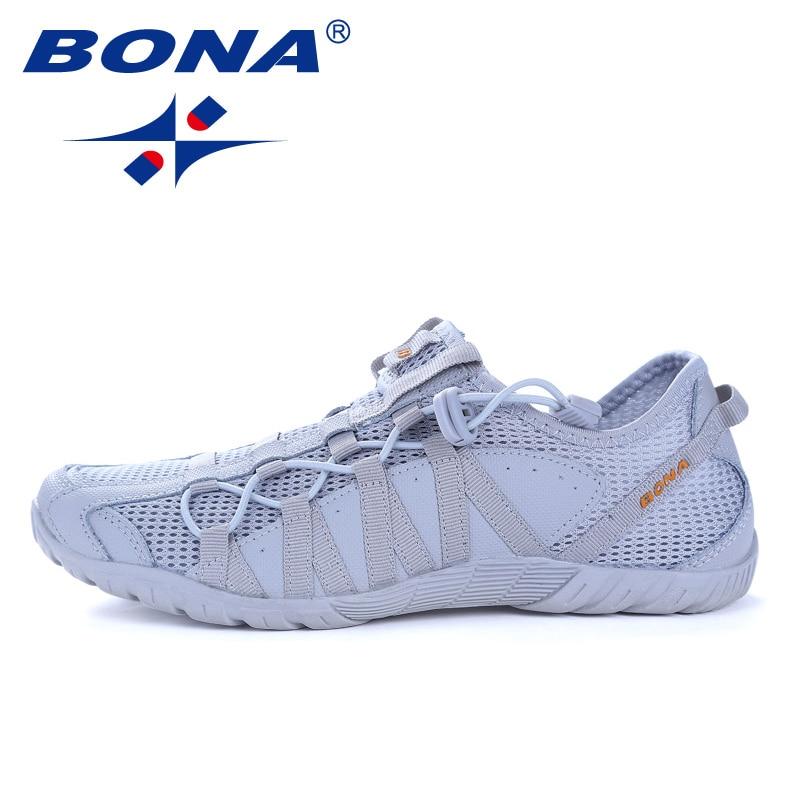 Nuevo estilo Popular BONA zapatos para correr para hombre Zapatos deportivos de encaje para correr al aire libre zapatillas de deporte para correr cómodos y rápidos envío gratis