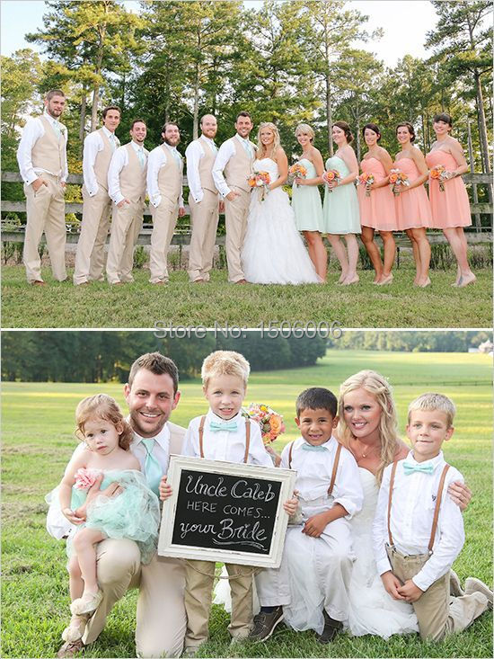 mint and peach wedding bridal party outfit ideas mint and ...
