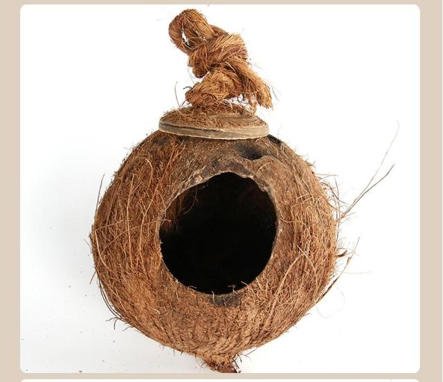 Straw Flower Pots Birds Cage Home Decor Hanging For Coconut Planter