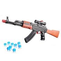 AK 47 Speelgoed Pistool Pistool 400 Stks Water Absorberen Bullet 3 Pcs Zachte Kogel Zachte Foam Kogel Orbeez Waterpistool Luchtbuks Speelgoed Voor Kids