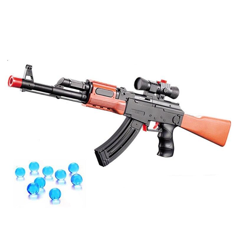 AK 47 pistola de juguete pistola de 400 unids absorbe agua bala 3 unids bala suave de espuma suave bala Orbeez pistola de agua pistola de aire juguetes para los niños