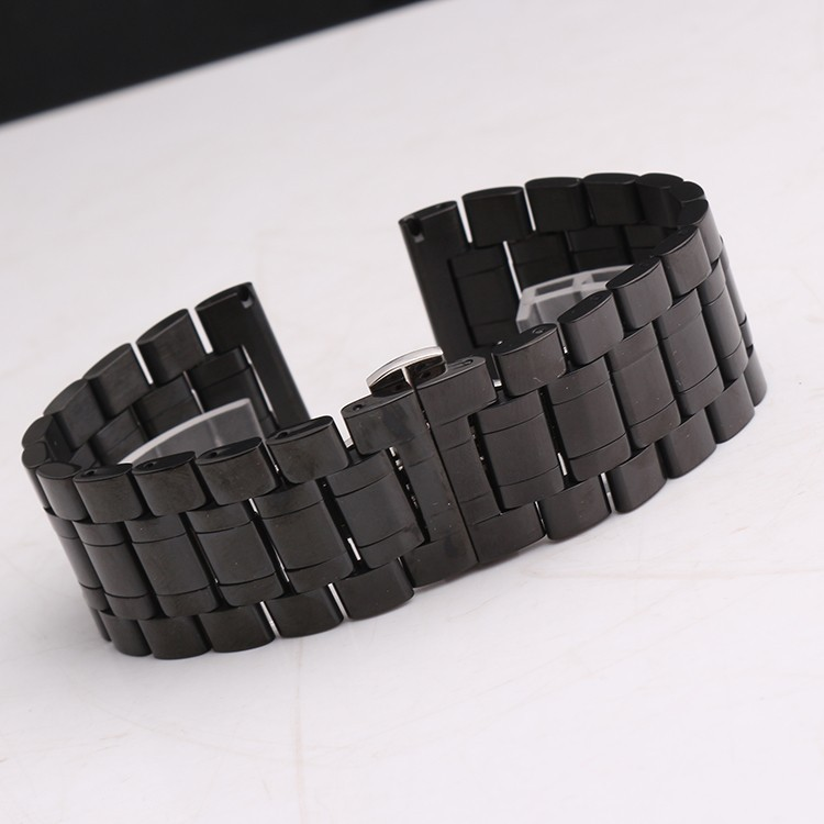 22mm 24mm 26mm 28mm 30mm New High Quality Black Silver Genuine Metal Stainless steel Watch Bands