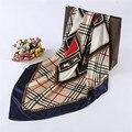 Bufanda de la manera mujeres retro carriage patrón mantón de las bufandas mujeres anti-bufandas de seda envío libre 90*90 cm