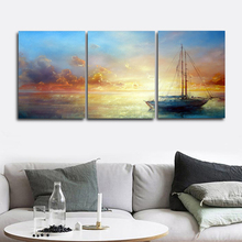 Laeacco Abstract Sea Sunrise Posters and Prints Nordic Home Decoration Paint On Canvas Painting Wall Artwork Living Room