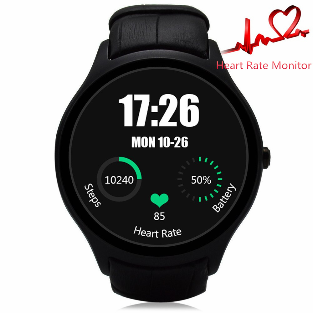 Crcular Shape NO.1 D5 Android 4.4 Bluetooth GPS Smart Watch with Heart Rate Moni