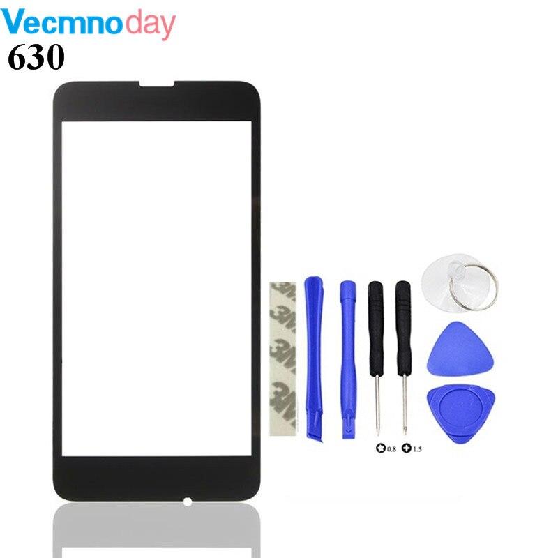 Vecmnoday 4.5 pouce Haute Qualité Pour Nokia Lumia 630 Écran Tactile Capteur Avant Outer Lentille En Verre panneau + outils