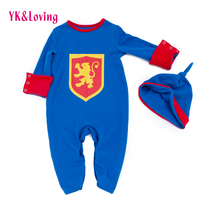 Baby Rompers Newborn Boy Cotton Long Sleeve Clothing Cotton Jumpsuit Romper Outwear Knight Superman Spring Autumn