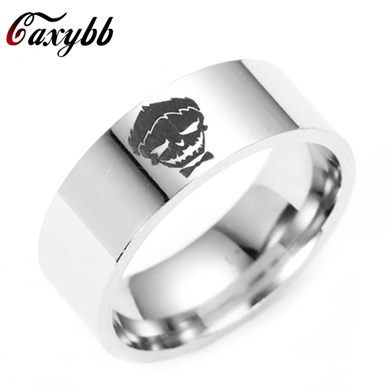 Comic Harley Quinn Joker Ring Titanium Ring