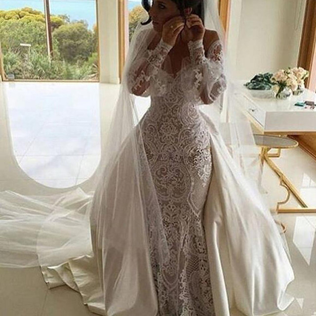 Luxury wedding dresses with long trains
