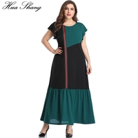 Maxi Dress Chiffon Women Summer O Neck Short Sleeve Multicolor Green Long Dress 5XL Plus Size Ladies Tunic Beach Dresses