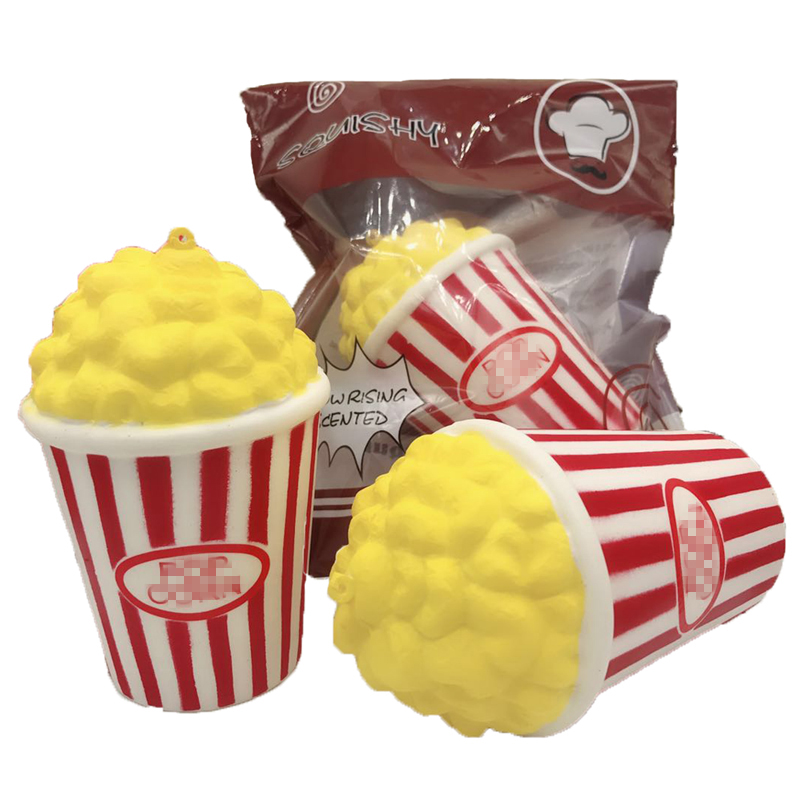 1Pcs Super Jumbo Slow Rising Squeeze Soft Popcorn Antistress Toys for Children Adults Fun 2017 S2