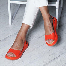 Summer Wedges Sandals Fashion Sexy Open Toe Platform Elevator Women Sandals Shoes Pumps pink white Plus Size 34-43