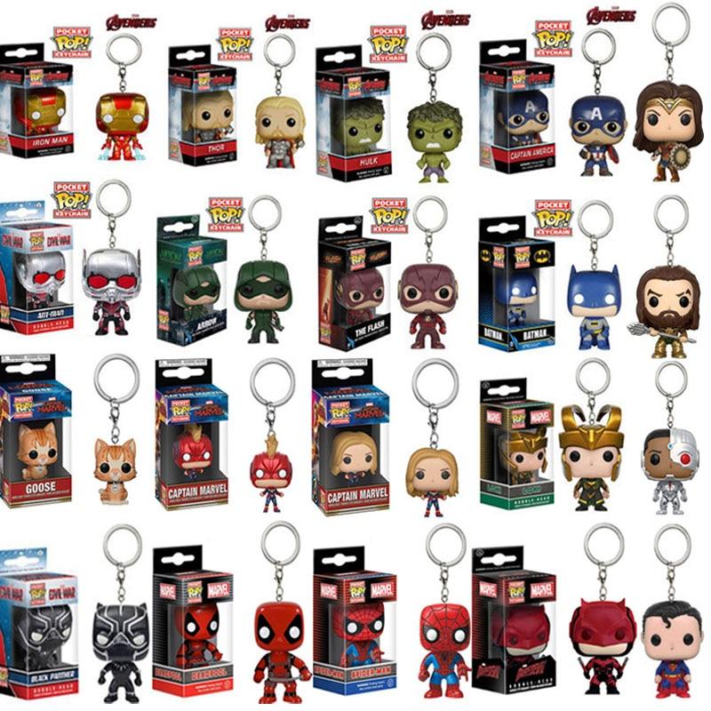 Funko POP Avengers Iron Man Tony Stark Action Figure Collectible Toys Keychain