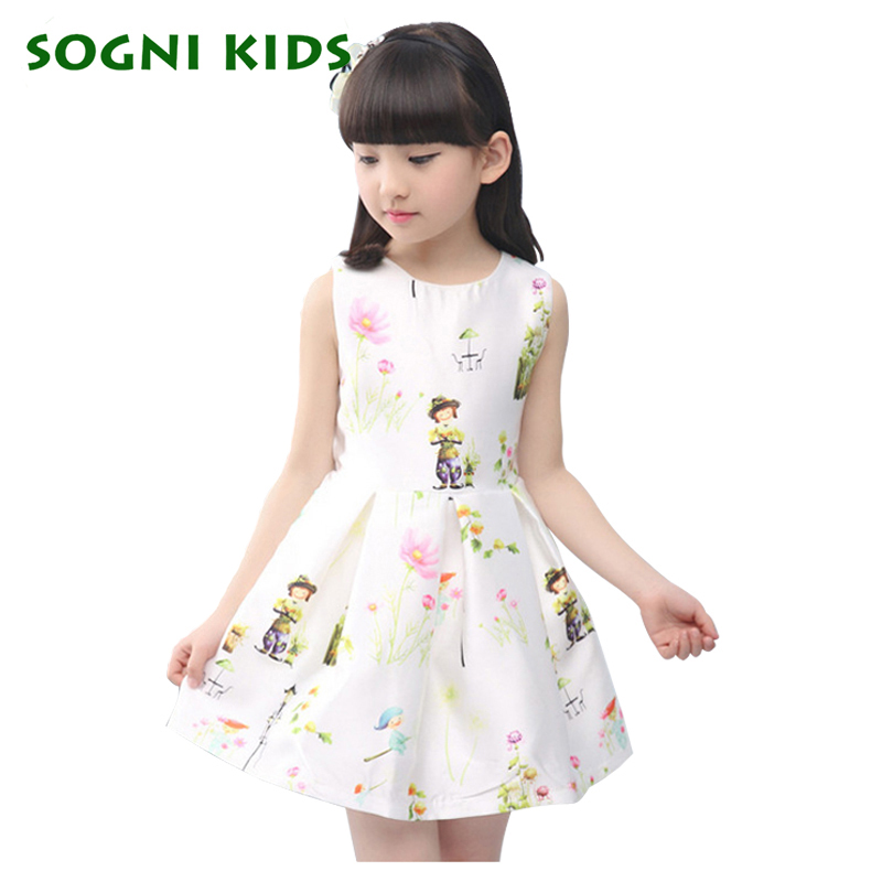 afa3c5435 SOGNI KIDS New Cute summer Children Clothes Baby Girl Dresses cotton ...